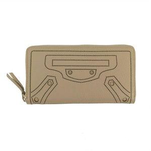 Balenciaga continental blackout wallet